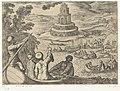 Vuurtoren van Alexandrië Septem orbis admiranda (serietitel) De zeven wereldwonderen (serietitel), RP-P-H-OB-44.047.jpg