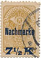 Währungsänderung Austrian KK 1 Heller Porto Stamp Kreuzer.jpg