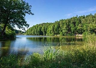 Swabian-Franconian Forest upland region in Baden-Württemberg, Germany