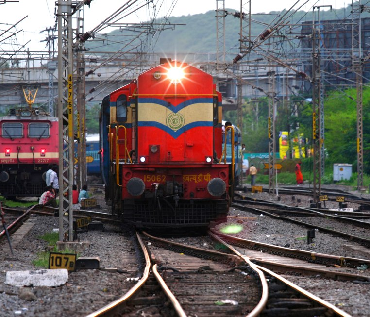 WDP-1 diesel locomotive at Vijayawada Railway Station