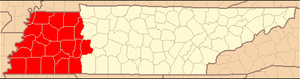United States District Court for the Western District of Tennessee - Image: WD Tenn map