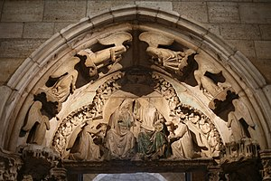 Doorway from Moutiers-Saint-Jean - Tympanum with the Coronation of the Virgin