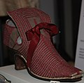 WLA vanda Buff leather womans shoe with red silk stiching.jpg