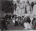 WORSHIPPERS AT THE WESTERN WALL (WAILING WALL) IN THE OLD CITY OF JERUSALEM. (COURTESY OF AMERICAN COLONY) מתפללים בכותל המערבי בעיר העתיקה בירושלים.D826-075.jpg