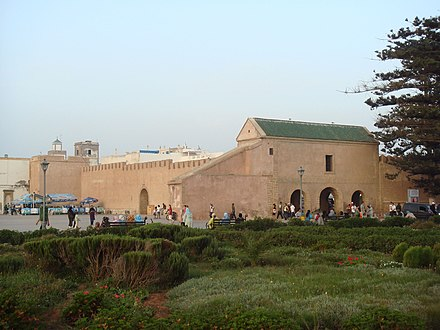 Walls of the Essaouira Kasbah designed and built by Cornut. Walls of the Essaouira Kasbah.jpg