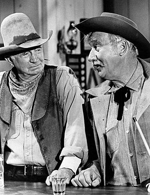 The Guns of Will Sonnett - Walter Brennan and Edward Andrews, 1968.