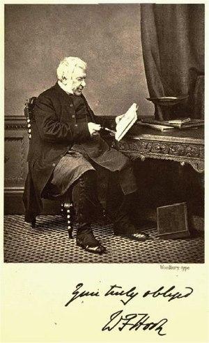 Walter Hook - Signed photo of Walter Farquhar Hook