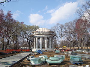 District of Columbia War Memorial - The memorial under restoration in 2011