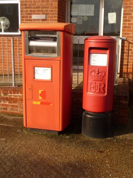 File:Wareham, postbox No.s BH20 2000 and BH20 400, Sandford Lane - geograph.org.uk - 1591287.jpg