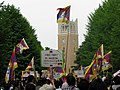 Waseda University - Pro Tibet protesters during Hu Jing Tao' visit to the campus B.JPG