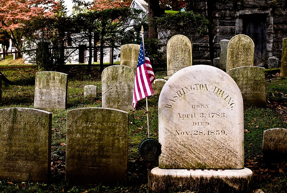 Washington Irving's headstone Sleepy Hollow Cemetery