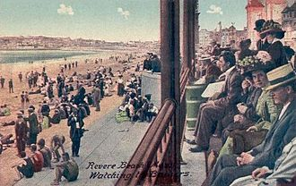 Revere Beach - Watching the Bathers in 1910