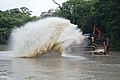 Water Splash During Dredging - Kings Lake Dredging - Banyan Avenue - Indian Botanic Garden - Howrah 2013-10-27 3831.JPG