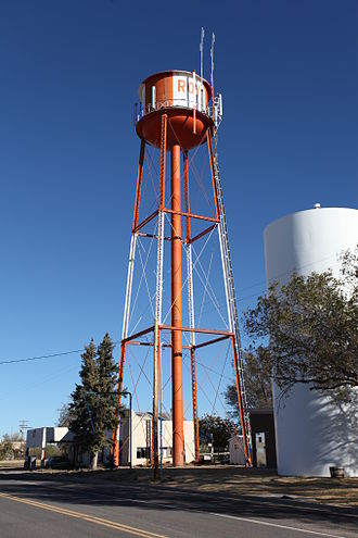 Roy, New Mexico - Image: Water Tower Roy New Mexico 2010