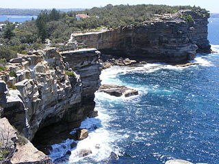 The Gap (Sydney) ocean cliff on the South head of Sydney Harbour, New South Wales, Australia