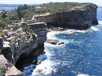 The Gap (Sydney) - Looking north towards high cliffs that create The Gap near Watson Bay.