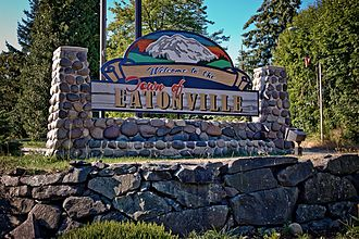 Eatonville, Washington - Welcome sign in Eatonville