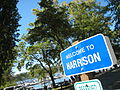 Welcome sign in Harrison Idaho 6-28-2008.jpg