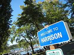 Welcome sign in Harrison