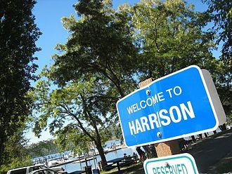 Harrison, Idaho - Welcome sign in Harrison