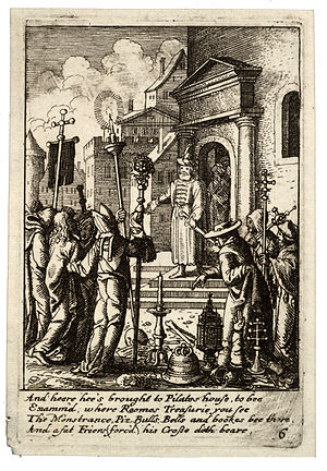 Wenceslas Hollar - Jesus before Pilate 2