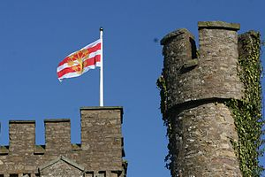 Flag of Westmorland - The flag flying at Augill Castle, Kirkby Stephen