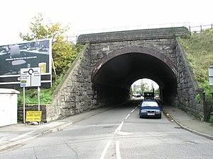 A4055 road - Weston Square Bridge, Barry
