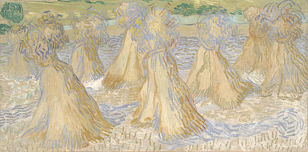 Vincent van Gogh, Sheaves of Wheat, 1890, Dallas Museum of Art Wheatfield - Van Gogh.jpg