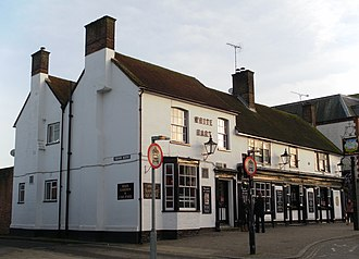 White Hart Inn, Crawley - The 19th-century extension is in the foreground of this view from the northwest.