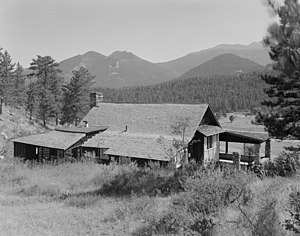 William Allen White Cabins, main cabin, Rocky ...