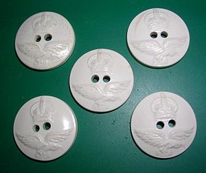 Casein - White galalith Australian Royal Airforce pre-1953 buttons