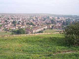 Whitehawk suburb in the east of Brighton, England
