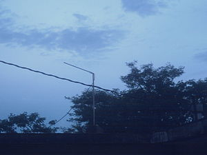 English: This is a homemade Yagui WiFi antenna...