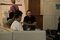 Wikimania 2009 - Chatting.jpg