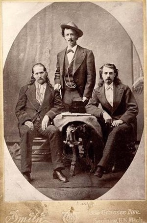 "Buffalo Bill - ""Wild Bill"" Hickok, Texas Jack Omohundro, and Cody in 1873"