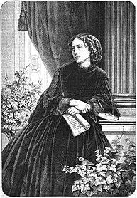 Wilhelmine Clauss-Szarvady, 1867. Grafik von Krüll und Michael. (Quelle: Wikimedia)