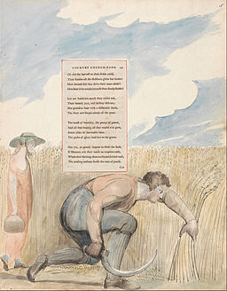 "William Blake - The Poems of Thomas Gray, Design 109, ""Elegy Written in a Country Church-Yard."" - Google Art Project"