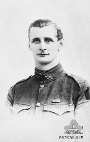 53rd Battalion (Australia) - Private William Currey, who received the Victoria Cross for his actions during the Battle of Mont Saint-Quentin.