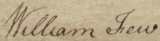 William Few - Image: William Few signature