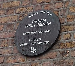 Photo of Percy French brown plaque