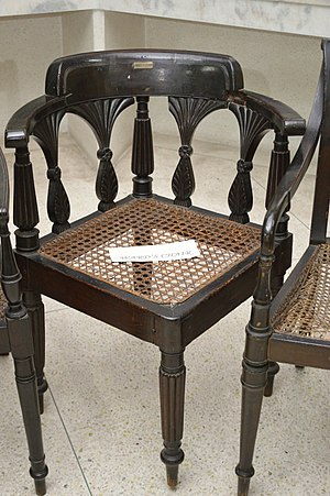William Ward (missionary) - William Ward used chair at the Serampore College.