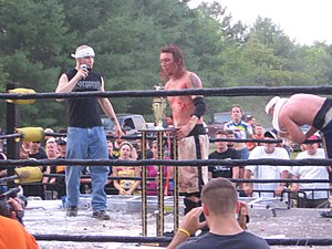CZW Tournament of Death - Scotty Vortekz after winning the Tournament of Death 9
