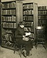 Woman alone with her books detail, from- 0001 102 655 Unidentified (9300318011) (cropped).jpg