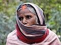 Woman outside New Vishwanath Temple - Banaras Hindu University - Varanasi - Uttar Pradesh - India - 02 (12519655464).jpg