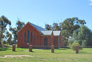 1951 in Australia - Womboota Uniting Church, built in 1951