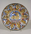 Workshop of Giorgio Andreoli - Dish with the Lamb of God - Walters 481356.jpg
