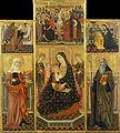 Workshop of Llorenç Saragossà - Altarpiece of the Virgin Suckling the Child, Saint Clare and Saint Anthony the Abbott - Google Art Project.jpg