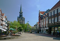 Pedestrian zone in the town centre of Wunstorf