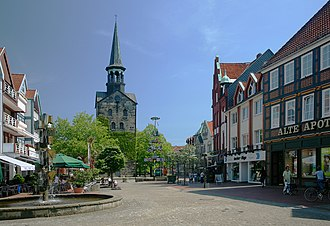 Wunstorf - Pedestrian zone in the town centre of Wunstorf