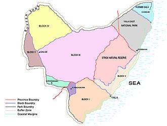 Yala National Park - Map of Yala National Park